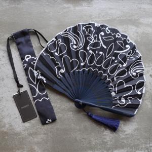 マニプリ 扇子 manipuri A-2 バンダナ柄 ブラック bandana black 2019春夏新作|charger