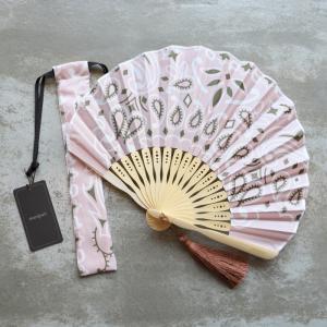 マニプリ 扇子 manipuri A-2 バンダナ柄 ピンク bandana pink 2019春夏新作|charger