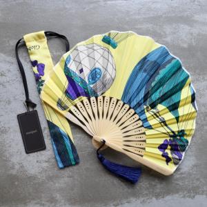 マニプリ 扇子 manipuri センス クラシック バルーン柄 イエロー classic balloom yellow 2019春夏新作|charger