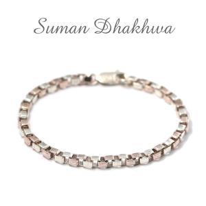 スーマンダックワ ブレス Suman Dhakhwa コンビ ベネチアンチェーン ブレスレット シルバー 銅 木目金 Combi Venetian Chain Bracelet Silver Copper MOKUMEGANE charger