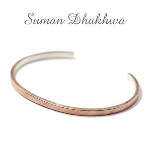 スーマンダックワ バングル Suman Dhakhwa モクメ ナロー カフ シルバー 銅 木目金 MOKUME Narrow Flat Cuff Silver Copper MOKUMEGANE charger