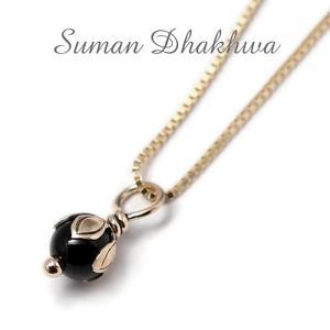 スーマンダックワ ネックレス Suman Dhakhwa ロータス ストーン ペンダント ベネチアン チェーンセット K10 Lotus Stone Pendant Onyx Venetian Chain K10YG charger