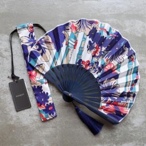マニプリ 扇子 manipuri フェザー ベルト柄 ピンク feather belt pink 2019春夏新作|charger
