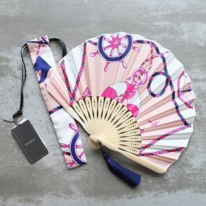 マニプリ 扇子 manipuri マリン柄 ピンク marine pink 2019春夏新作|charger