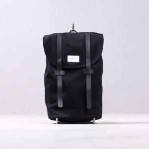 サンドクヴィスト リュック SANDQVIST キャンバス バックパック ブラック メンズ レディース STIG BLACK|charger