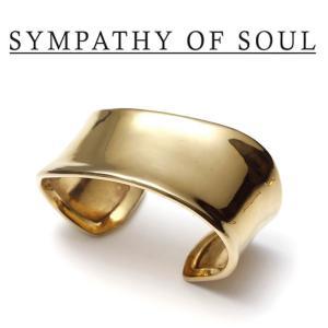 SYMPATHY OF SOUL Style レディース シンパシーオブソウル スタイル Melt Bangle BRASS GOLD メルト バングル 真鍮 ゴールドコーティング|charger
