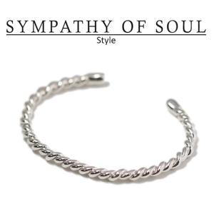 シンパシーオブソウル スタイル レディース SYMPATHY OF SOUL Style ツイストバングル シルバー Twist Bangle SILVER|charger