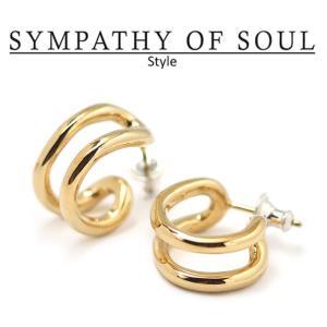シンパシーオブソウル スタイル レディース SYMPATHY OF SOUL Style サークルピアス ブラス ゴールドコーティング Circle Pierce BRASS GOLD|charger