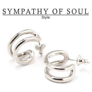 シンパシーオブソウル スタイル レディース SYMPATHY OF SOUL Style サークルピアス シルバー Circle Pierce SILVER|charger