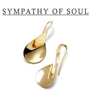 SYMPATHY OF SOUL Style レディース シンパシーオブソウル スタイル Loosery pierce BRASS GOLD ルーズリー ピアス 真鍮 ゴールドコーティング|charger