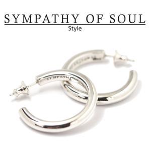 シンパシーオブソウル スタイル レディース SYMPATHY OF SOUL Style ワイドフープピアス ラージ シルバー Wide Hoop Pierce - Lg SILVER|charger