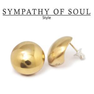 シンパシーオブソウル スタイル レディース SYMPATHY OF SOUL Style バルーンピアス ブラス ゴールドコーティング Balloon Pierce BRASS GOLD|charger