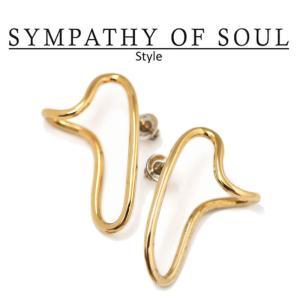 シンパシーオブソウル スタイル レディース SYMPATHY OF SOUL Style ドリップピアス ブラス ゴールドコーティング Drip Pierce BRASS GOLD|charger