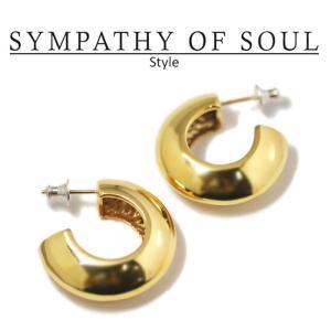 シンパシーオブソウル スタイル レディース SYMPATHY OF SOUL Style パフピアス ゴールドコーティング  Puff Pierce Gold Plated BRASS|charger
