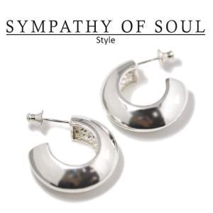 シンパシーオブソウル スタイル レディース SYMPATHY OF SOUL Style パフピアス シルバー Puff Pierce SILVER|charger
