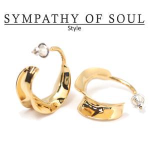 シンパシーオブソウル スタイル レディース SYMPATHY OF SOUL Style  フラッターピアス ブラス ゴールドコーティング  Flutter Pierce BRASS GOLD|charger