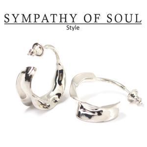 シンパシーオブソウル スタイル レディース SYMPATHY OF SOUL Style  フラッターピアス シルバー Flutter Pierce SILVER|charger