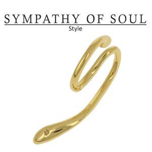 シンパシーオブソウル スタイル レディース SYMPATHY OF SOUL Style リキッドイヤーカフ ゴールドコーティング Liquid Ear Cuff Large Gold Plated BRASS|charger