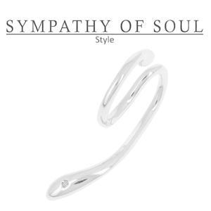 シンパシーオブソウル スタイル レディース SYMPATHY OF SOUL Style リキッドイヤーカフ シルバー Liquid Ear Cuff Large SILVER|charger