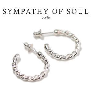シンパシーオブソウル スタイル レディース SYMPATHY OF SOUL Style ツイストピアス シルバー  Twist Pierce SILVER|charger
