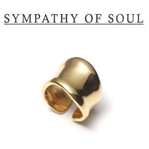 SYMPATHY OF SOUL Style レディース シンパシーオブソウル スタイル Melt Ring BRASS GOLD メルト リング 真鍮 ゴールドコーティング|charger