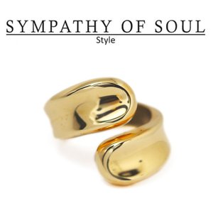 シンパシーオブソウル スタイル レディース SYMPATHY OF SOUL Style ワインディングリング ブラス ゴールドコーティング Winding Ring BRASS GOLD charger
