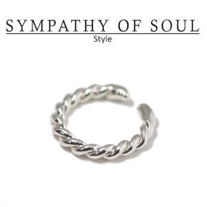 シンパシーオブソウル スタイル レディース SYMPATHY OF SOUL Style ツイストリング シルバー Twist Ring SILVER|charger