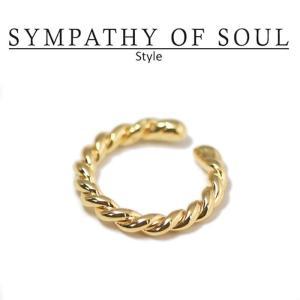 シンパシーオブソウル スタイル レディース SYMPATHY OF SOUL Style ツイストリング ゴールドコーティング Twist Ring Gold Plated|charger