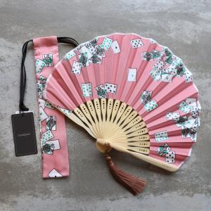 マニプリ 扇子 manipuri トランプ柄 ピンク trump pink 2019春夏新作|charger