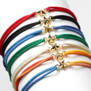 スウィング ブレスレット スター メンズ レディース  コードブレス ゴールドコーティング 星 SWING Tiny Star Code Bracelet Silver GV 7色展開|charger