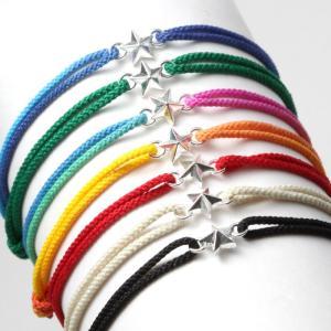 スウィング  ブレスレット スター メンズ レディース コードブレス 星 SWING Tiny Star Code Bracelet Silver 7色展開|charger