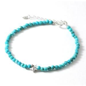 スウィング ブレスレット スター メンズ レディース ペア ターコイズ ストーンブレス SWING Sm. turquoise Bracelet w/Tiny Star Silver|charger