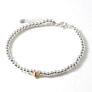 スウィング  ブレスレット スター メンズ レディース ペア シルバーボールビーズブレス SWING Sm. Silver Ball Beads Bracelet w/Tiny Star Silver|charger