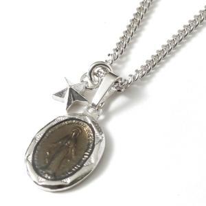 スウィング  ネックレス スター マリア メンズ セットネックレス  SWING Large Blessed Maria Necklace Silver w/Tiny Star Charm Silver|charger