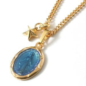 スウィング ネックレス スター マリア メンズ セットネックレス  SWING Large Blessed Maria Necklace Gold plating w/Tiny Star Charm GV|charger