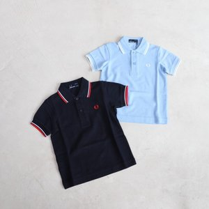 SALE 20%OFF フレッドペリー キッズ FRED PERRY キッズ ツイン チップ ポロシャツ ネイビー サックス Single Fred Perry Shirt NAVY SAX 2色展開 2019春夏|charger