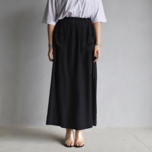 ティッカ レディース スカート TICCA サテン3WAYスカート SATIN 3WAY SKIRT ブラック BLACK  2021春夏新作 charger