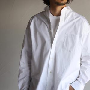 ティッカ メンズ レディース シャツ TICCA スクエアビッグシャツ SQUARE BIG SHIRT ホワイト WHITE 2020秋冬新作|charger