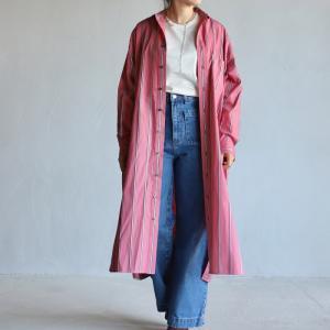 ティッカ レディース TICCA スクエアビッグロングシャツ SQUARE BIG LONG SHIRT ピンク PINK 2020秋冬新作|charger