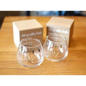 ゆらゆらグラス にこちゃん SMILE GLASS スマイルグラス 2色展開  使用素材 ガラス  ...