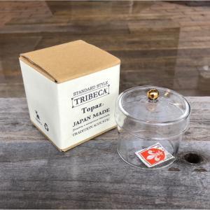 TRIBECA トライベッカ Topaz トパーズ ガラス 小物入れ  Mサイズ ガラスケース インテリア|charger
