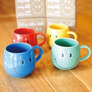 にこちゃん Funny Mug ファニーマグカップ スマイル コップ 4色展開 charger