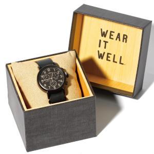 TIMEX タイメックス 時計 ウィークエンダー クロノ ブラック レザー 40mm メンズ レディース|charger