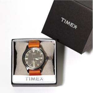 TIMEX タイメックス 時計 ウォーターベリー コレクション デイト タン レザー 40mm メンズ レディース|charger