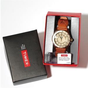 SALE 40%OFF TIMEX タイメックス 時計 サファリ ブラウン レザー 37mm メンズ レディース|charger