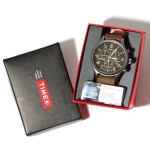 TIMEX タイメックス 時計 エクスペディション スカウトメタルクロノ グリーン ストラップ 42mm メンズ|charger