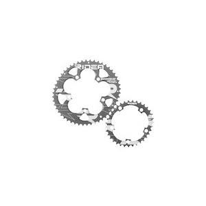 【送料無料】RIDEA 【50/35W2-LSR5CT】MS-GN919-W+LS Power ring W+LS 50-35T チェーンリング ブラック [147-05046]|chari-o