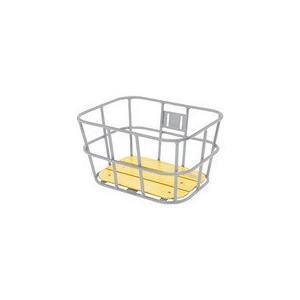 【送料無料】GIZA PRODUCTS(ギザプロダクツ) BKT09301  AL-N04 ウッド ボトム バスケット シルバー [BKT09301]|chari-o