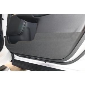 CR-V RW系 RT系 ドアキックガード ドアガード ドア プロテクター PUレザー 保護 プロテクター キズ防止 ブラック・ロゴなし ホンダ (HONDA) CRV RW1 RW2 RT5 RT6 chari-o