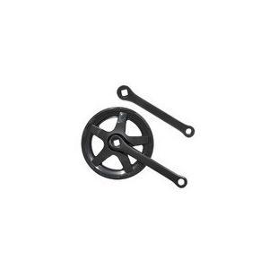 リンエイ(株) 【SPF-36_127B】SPF-36 Wガードギヤクランクセット 36T ブラック 127mm [199-20011]|chari-o